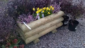 garden log planter large handmade bampton devon 1024x575 garden log planter large