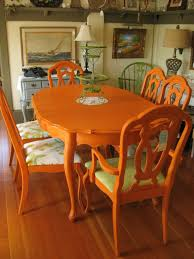 Chalk Paint Dining Room Table Colorful Painted Dining Table Inspiration