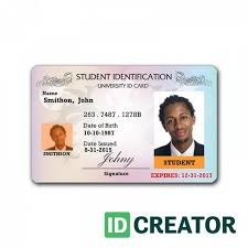 Identity Card Format For Student Professional Student Id Card Order In Bulk From Idcreator With