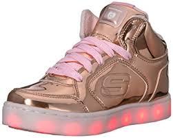 sketchers light up shoes girls. skechers girls energy lights trainers gold (rose gold), 5 uk 38 eu sketchers light up shoes