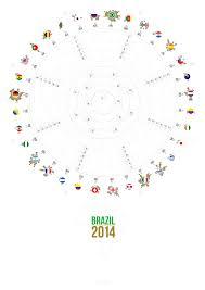 World Cup Wall Chart Brazil 2014