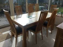Large Oak Extending Dining Table And 8 Chairs In Lymington
