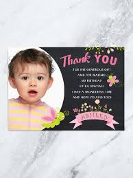 erfly thank you card erfly birthday 1st birthday thank you card garden party thank you card tea party digital file