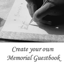 guest book template free create your own memorial guest book