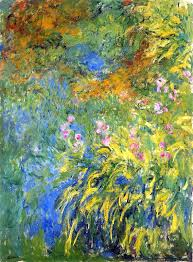 art artists claude monet part  claude monet 1914 17 irises by the pond oil on canvas 199 3 x 150 4 cm virginia museum of fine arts richmond va