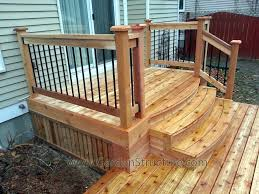premade deck stairs porch steps made deck design and ideas pre made deck stair railing