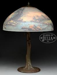 handel 18 diameter scenic table lamp julia lot 3061
