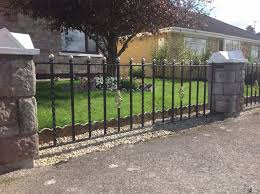 simple wrought iron fence. Backyard Wrought Iron Fence \u2013 Simple With  Details Simple Wrought Iron Fence G