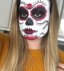 in time for tomorrow yay i decided to do a day of the dead makeup look i really like candy skulls sugar skulls day of the dead
