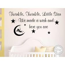 twinkle twinkle little star nursery wall sticker baby boy girl bedroom wall quote decor decal with fairy swinging in the moon on bedroom wall art stickers quotes with twinkle twinkle little star nursery wall sticker baby boy girl