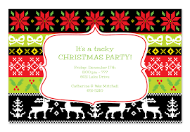Christmas Holiday Invitations Tacky Christmas