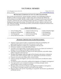 Resume Sample - Workers Compensation Claims. VICTORIA SENSES 31144 Bergamot  Avenue, Unit #39 Phone: 555.55.5555 Sylmar, ...