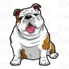cute bulldog clipart.  Bulldog Vector Cartoon Wrinkly English Bulldog Sitting With Its Mouth Open For  Elearning Videos Throughout Cute Clipart 2