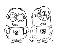 Learn how to draw minions, gru, dru, lucy wilde, balthazar, margo. Minions To Print Minions Kids Coloring Pages