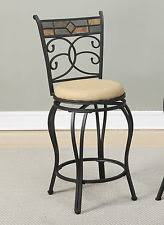chair height stools. 2 pc multi-color back tan faux suede black legs swivel counter bar height stools chair a