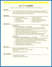 Resum Template Resume Template Teacher Emberskyme 23