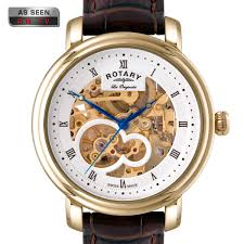 mens jura automatic watch skeleton dial gs90506 06 rotary mens jura automatic watch skeleton dial gs90506 06