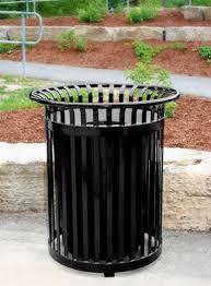 outdoor trash can. Model PFT34-EV   34 Gallon Outdoor Trash Can Premier EV Series (Black T