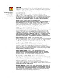 Resume Of Graphic Designer Sample Free Resume Example And