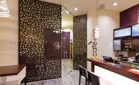 mdf decorative panel for partition walls wall mounted perforated cafe co vienna