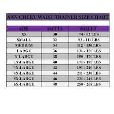 Size Chart Lecorset Shop