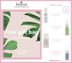 receive a free 4 pc gift with 75 boscia purchase bosciaskincare