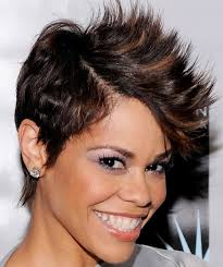 Spiky Hair Style 2016 short haircut styles for black women 8083 by wearticles.com
