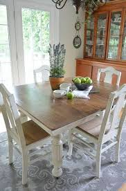 Chalk Paint Grandma's Antique Dining Table And Chairs In 40 Fascinating Paint Dining Room Table Property