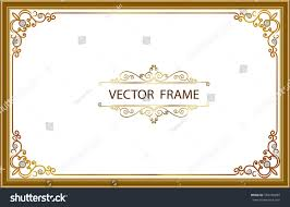 frame design. Gold Photo Frames With Corner Thailand Line Floral For Picture, Vector Frame Design Decoration Pattern L