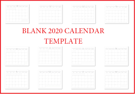 Full Page Blank Calendar Template Printable 2020 Blank Calendar Templates Calendar 2020
