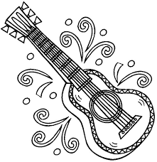 Small Picture Mexican Guitar Coloring Page Free Resume