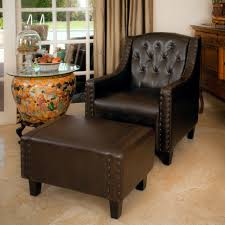 Patterned Living Room Chairs Furniture Alluring Leather Chair And Ottoman For Cozy Home