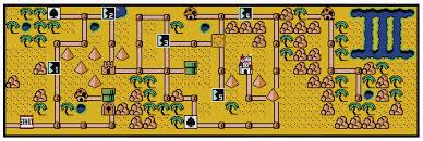 Super Mario Bros 3 World 2 Map Cross Stitch Pattern
