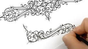 Draw A Design How To Draw A Simple Floral Ornamental Design With Pencil