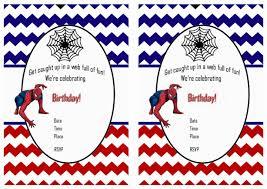 Spiderman Birthday Invitation Templates Free Spiderman Birthday Invitations Birthday Printable