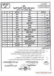 جدول امتحانات الصف الثالث الثانوي الأزهري 2020 أدبي الأزهر الشريف - كورة في  العارضة