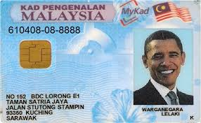 Barack Malaysia Card Identification Obama