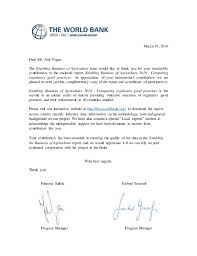 Letter World Letter Of Recognition From World Bank
