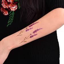сексуальная водонепроницаемая лавандовая татуировка временная татуировка