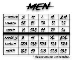 Sizing Chart Reign To Infinity