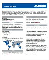 Fact Sheet For Engineering Company Information Template Construction ...