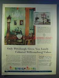 1950S Interior Design Impressive 48 Pittsburgh Paints Ad Colonial Williamsburg Colors 48's