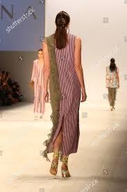 Fashion Design Studio Sydney Model On Catwalk Showcases Designs By Yohana Editorial Stock