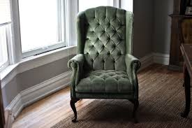 outstanding velvet tufted chair with additional home decoration