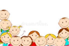 Kids Powerpoint Background Cartoon Background With Children Stock Vector Illustration