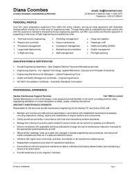 Mechanical Maintenance Engineer Sample Resume 8 Mechanical