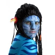 avatar navi makeup and nose kit blue one size