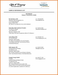 Reference Page Template How To Make A Resume For Job Interview