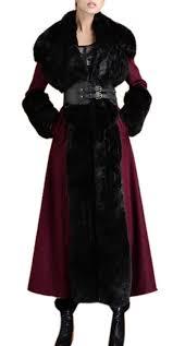 youtobin women s winter warm shearling fleece black faux fur long wool coat parka he32723 best choice