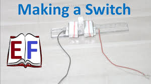 how to make an electric switch school science project